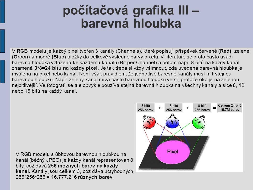 počítačová grafika III –