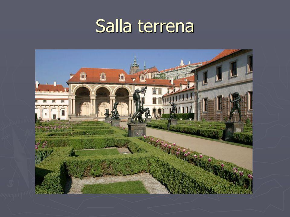 Salla terrena Valdštejnský palác; http://upload.wikimedia.org/wikipedia/commons/a/a6/Valdstejn_palace_garden.jpg.