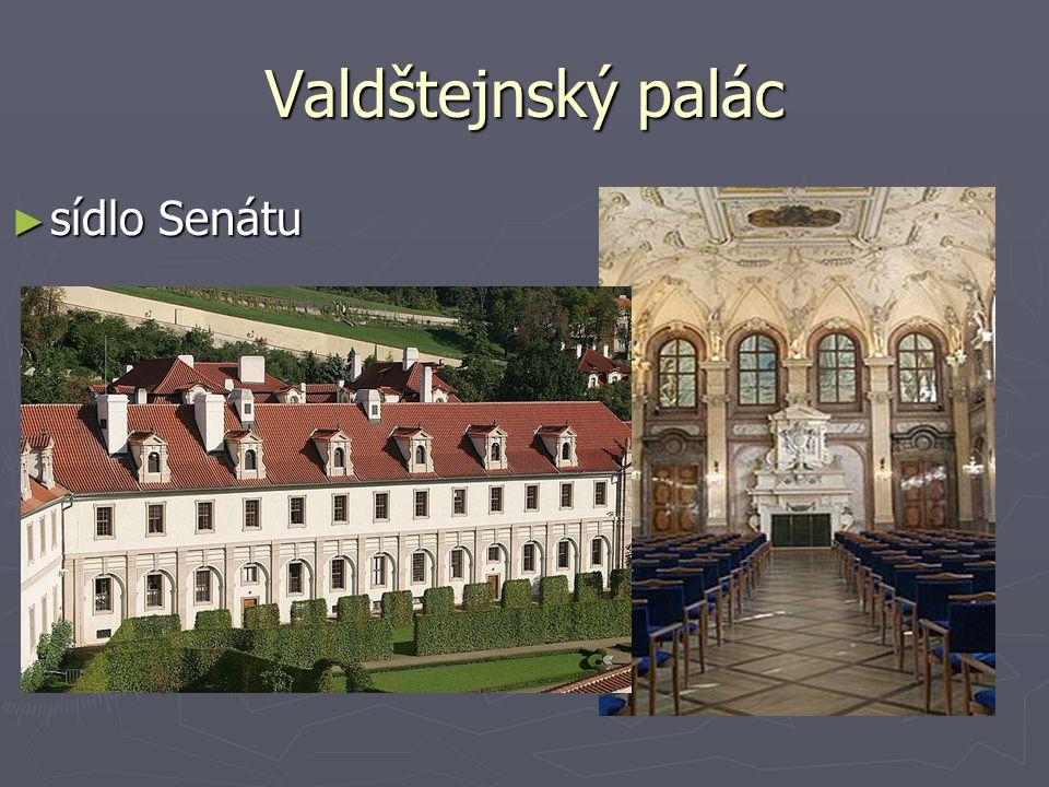 Valdštejnský palác sídlo Senátu