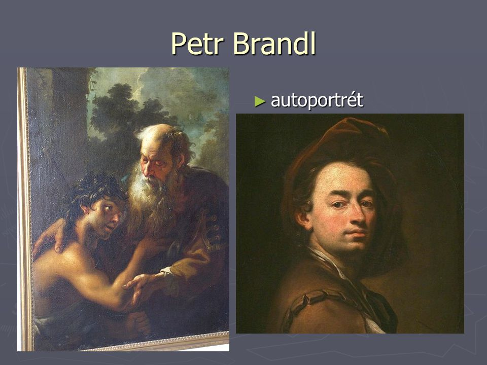 Petr Brandl autoportrét