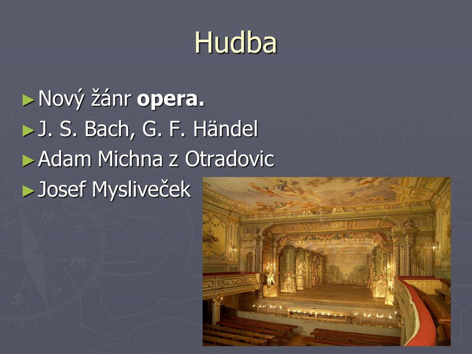 Hudba Nový žánr opera. J. S. Bach, G. F. Händel