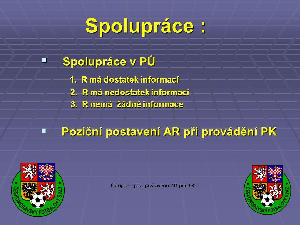 Spolupráce : Spolupráce v PÚ 1. R má dostatek informací