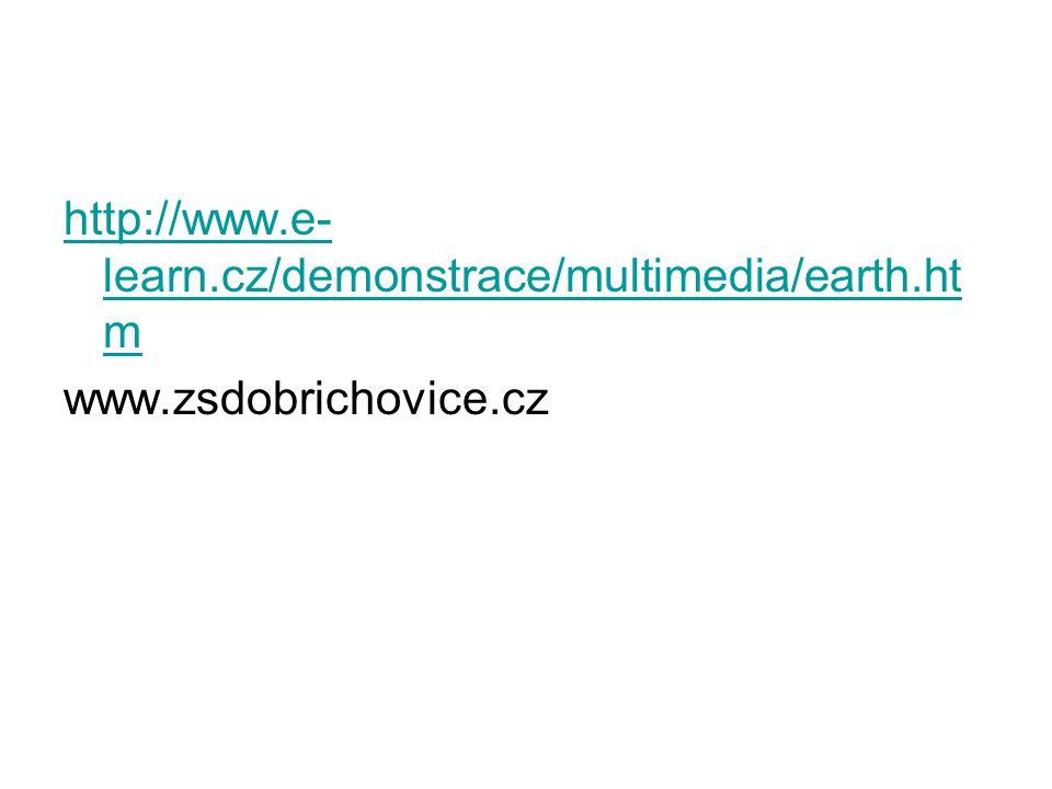 http://www.e-learn.cz/demonstrace/multimedia/earth.htm www.zsdobrichovice.cz