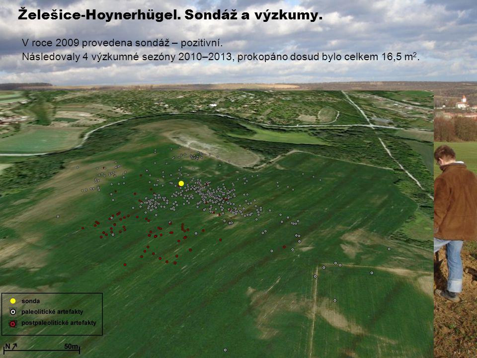 Želešice-Hoynerhügel. Sondáž a výzkumy.