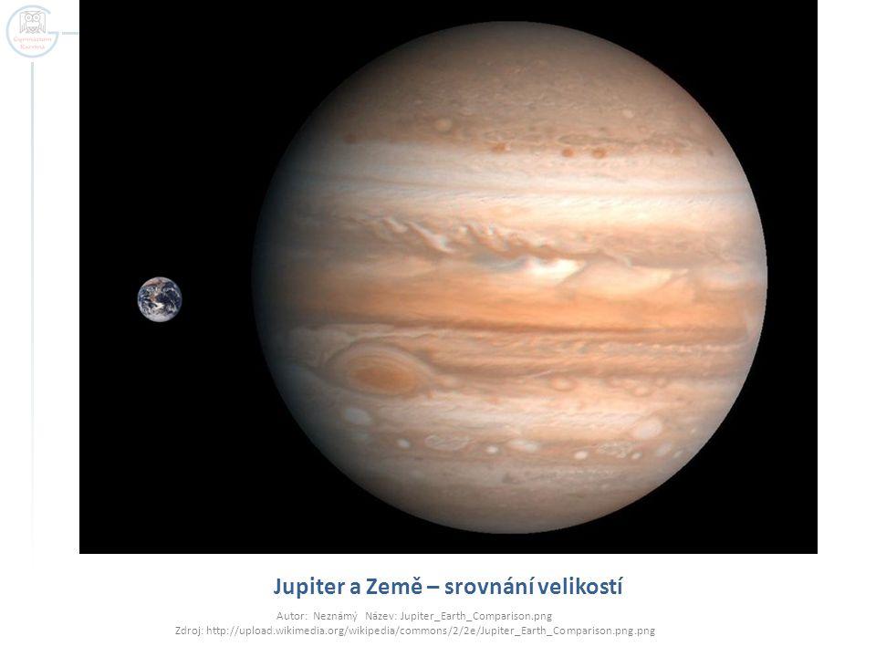 Jupiter a Země – srovnání velikostí