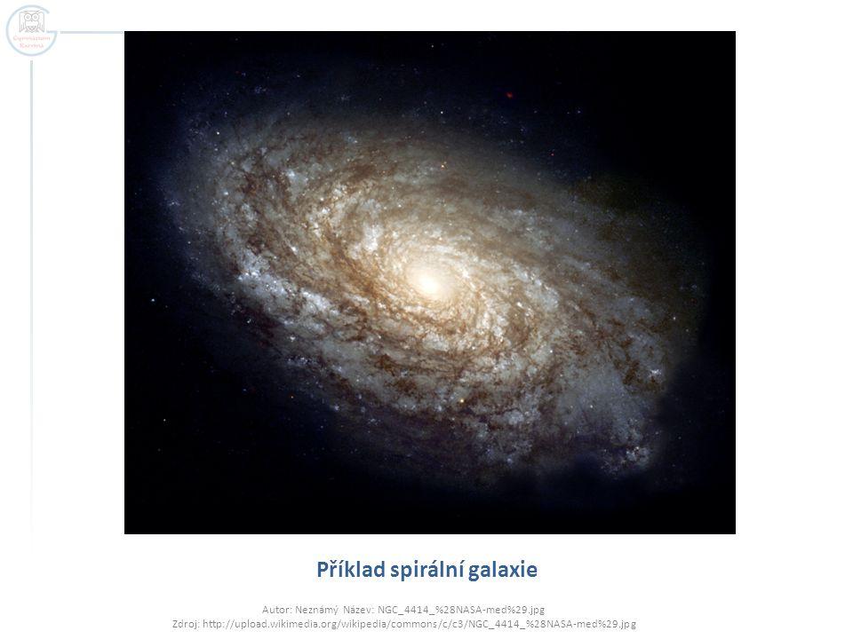 Příklad spirální galaxie