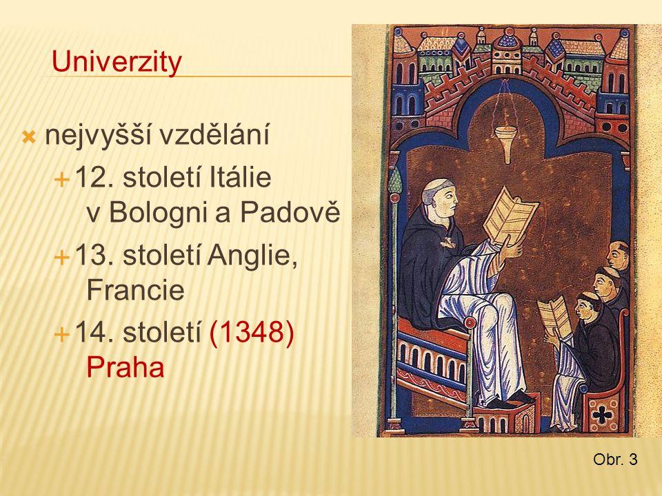 12. století Itálie v Bologni a Padově 13. století Anglie, Francie