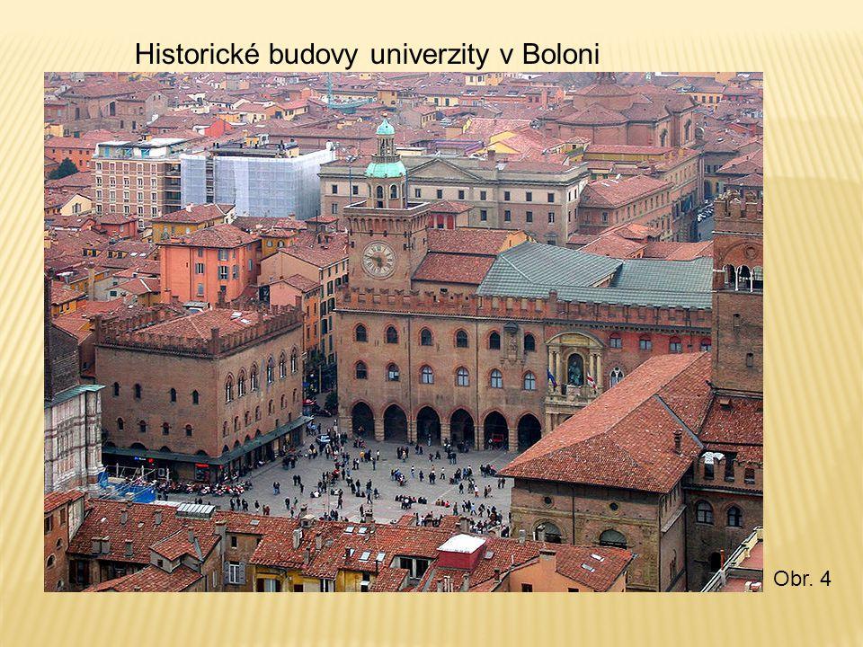 Historické budovy univerzity v Boloni