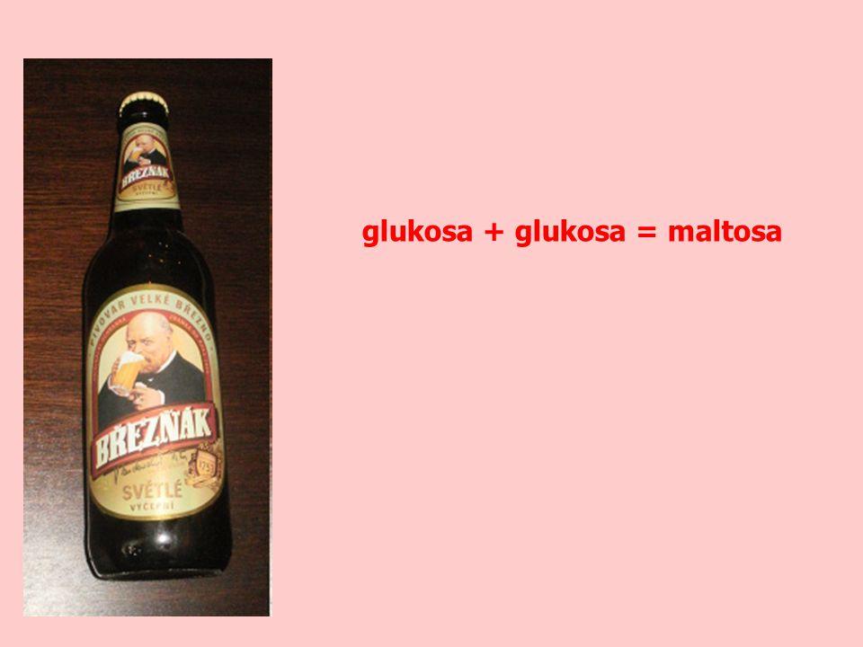 glukosa + glukosa = maltosa