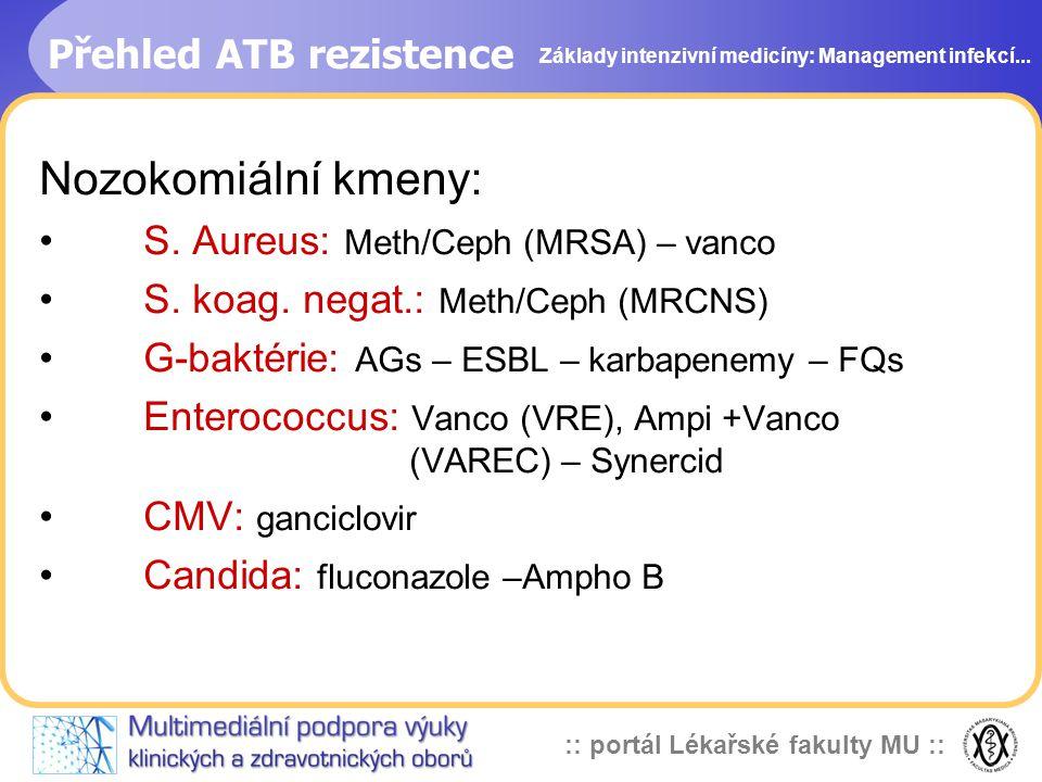 Přehled ATB rezistence