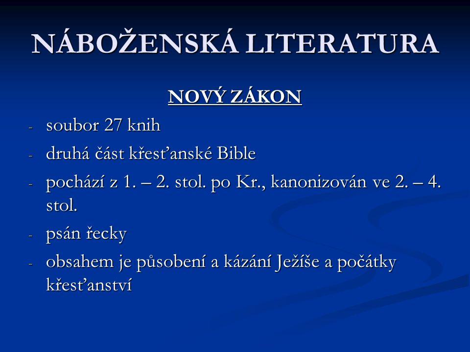 NÁBOŽENSKÁ LITERATURA