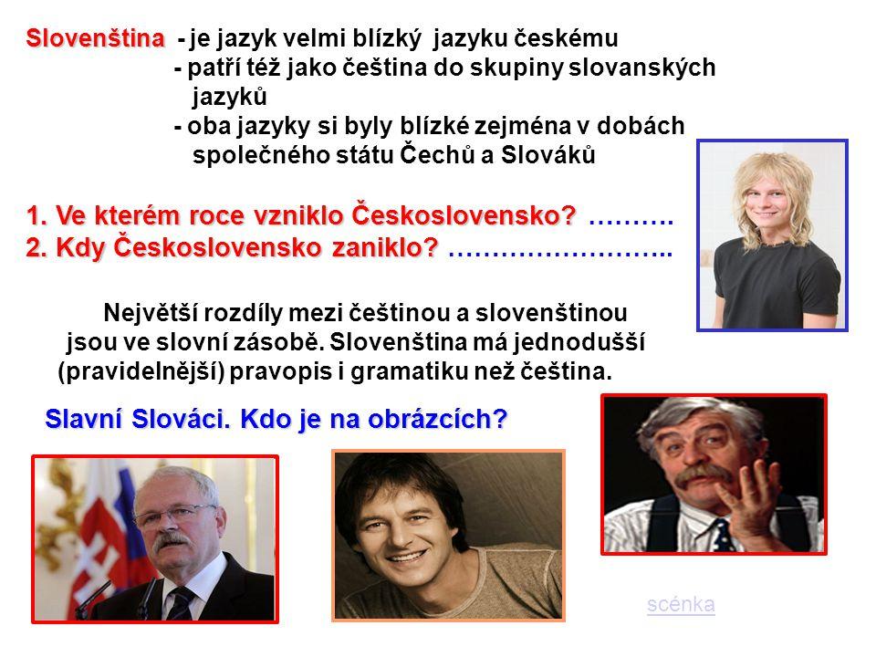 Největší rozdíly mezi češtinou a slovenštinou