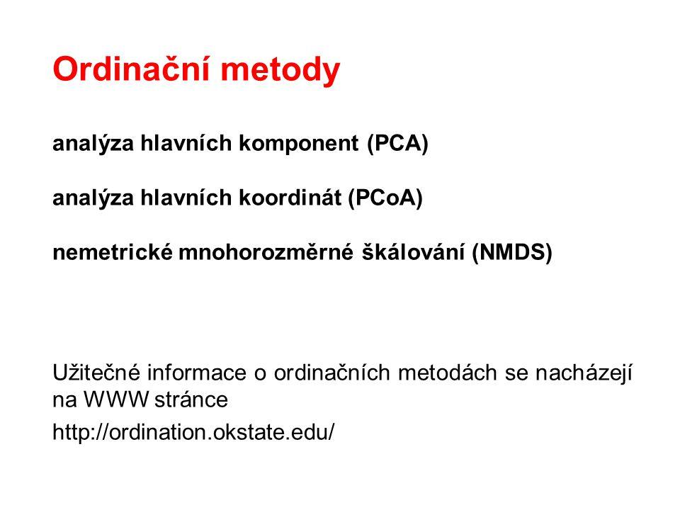 Ordinační metody analýza hlavních komponent (PCA)