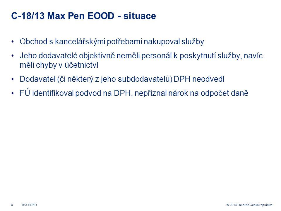 C-18/13 Max Pen EOOD - situace