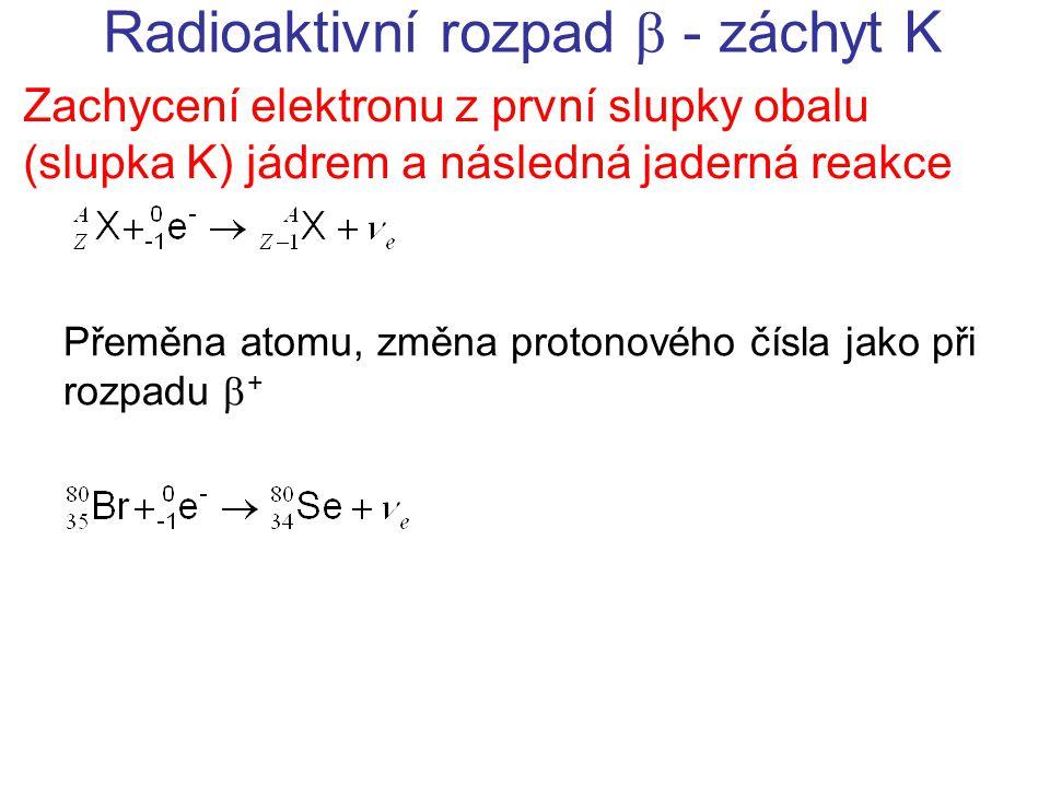 Radioaktivní rozpad  - záchyt K