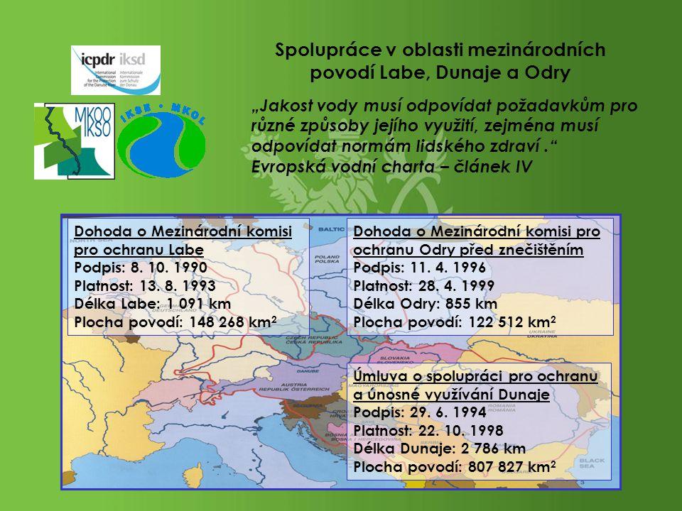 Spolupráce v oblasti mezinárodních povodí Labe, Dunaje a Odry