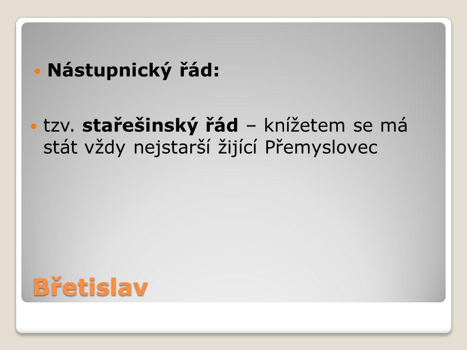 Břetislav Nástupnický řád: