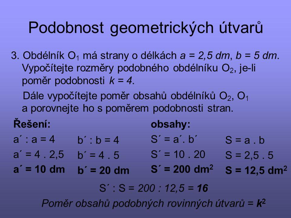 Podobnost geometrických útvarů