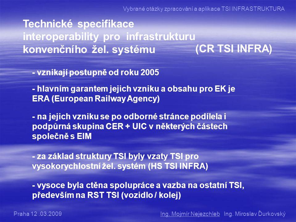 Vybrané otázky zpracování a aplikace TSI INFRASTRUKTURA