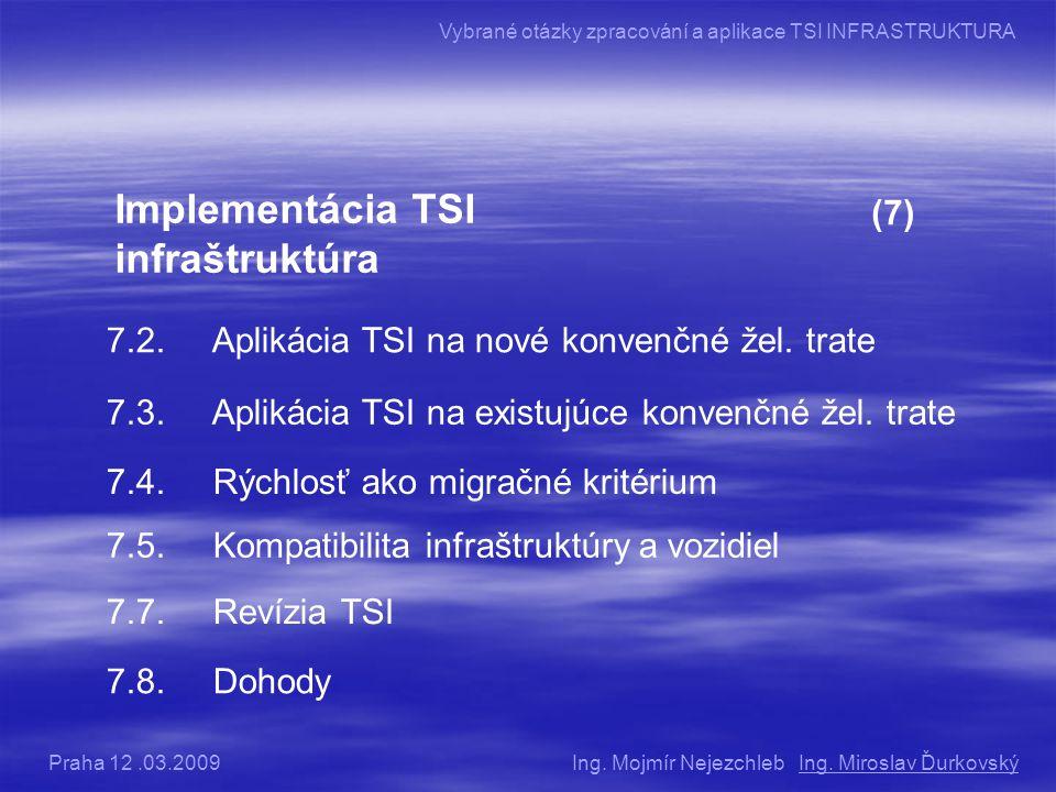 Implementácia TSI infraštruktúra