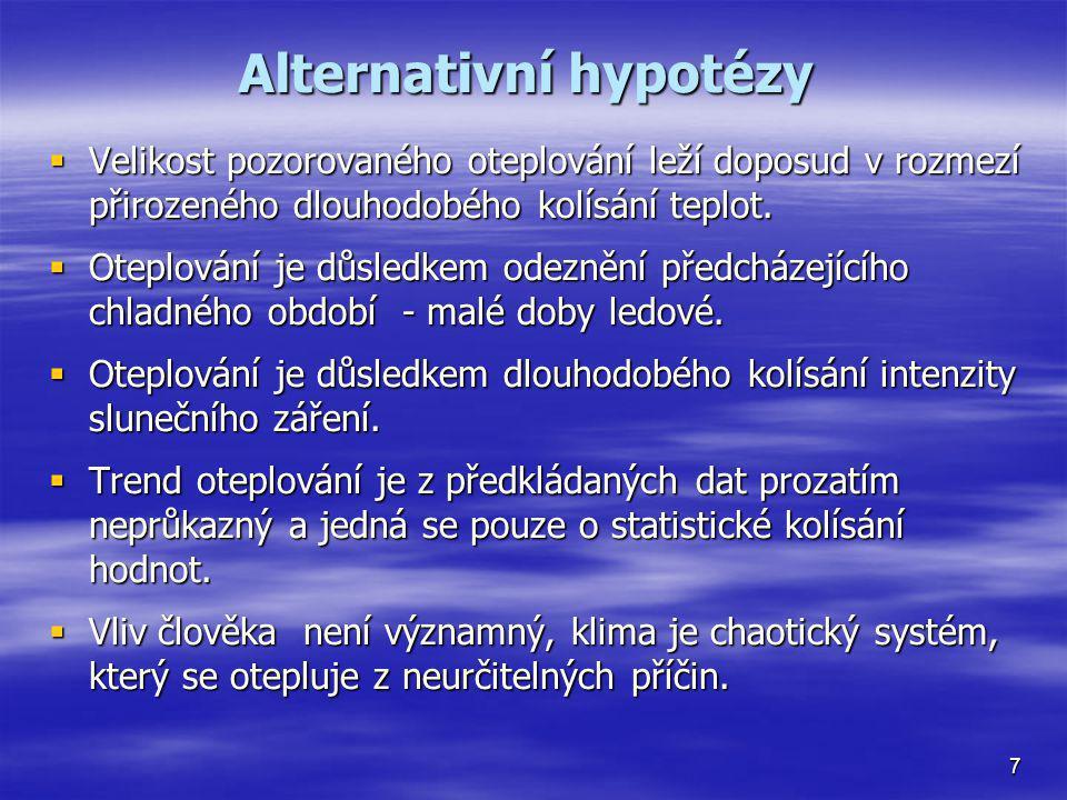 Alternativní hypotézy