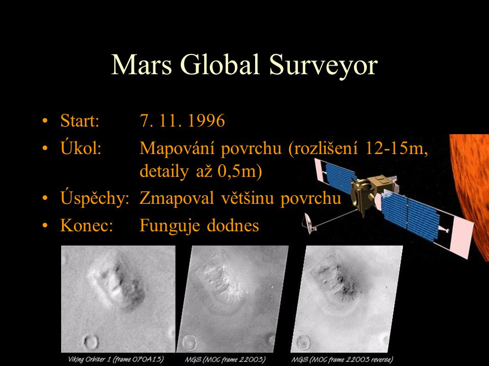 Mars Global Surveyor Start: 7. 11. 1996