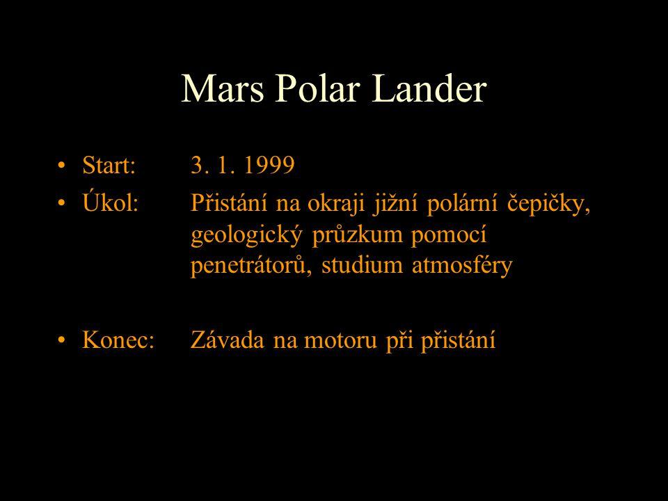 Mars Polar Lander Start: 3. 1. 1999