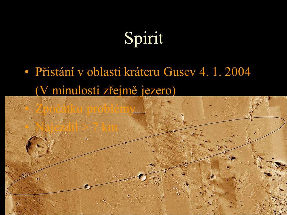 Spirit Přistání v oblasti kráteru Gusev 4. 1. 2004