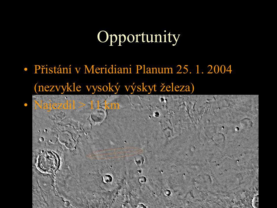 Opportunity Přistání v Meridiani Planum 25. 1. 2004