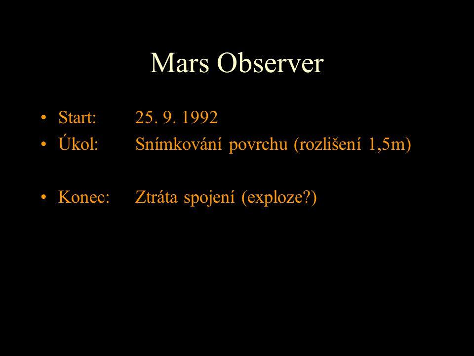 Mars Observer Start: 25. 9. 1992.