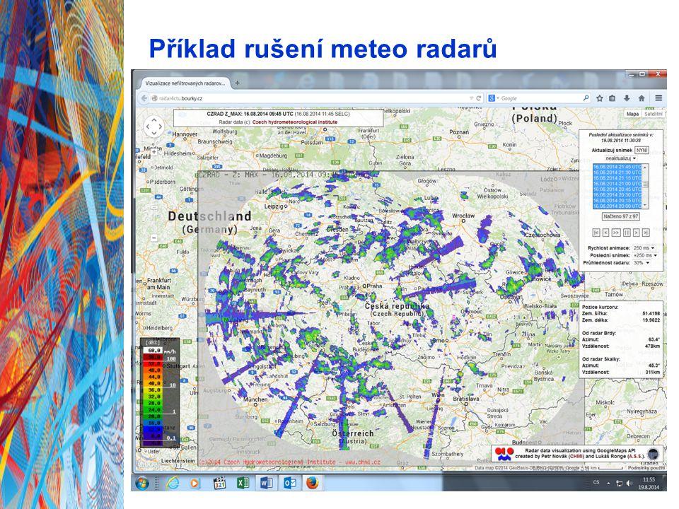 Příklad rušení meteo radarů