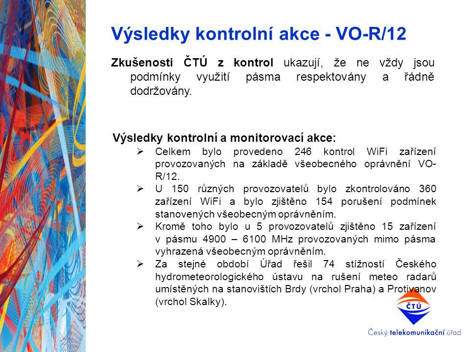 Výsledky kontrolní akce - VO-R/12