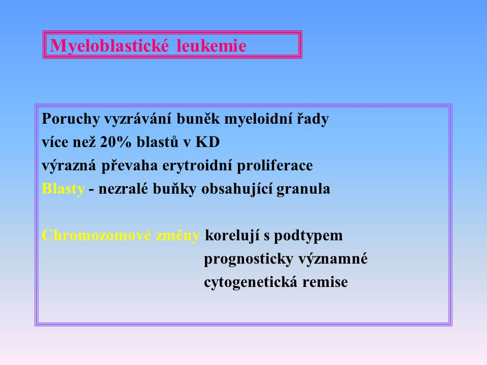 Myeloblastické leukemie