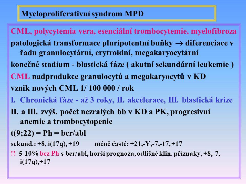 Myeloproliferativní syndrom MPD