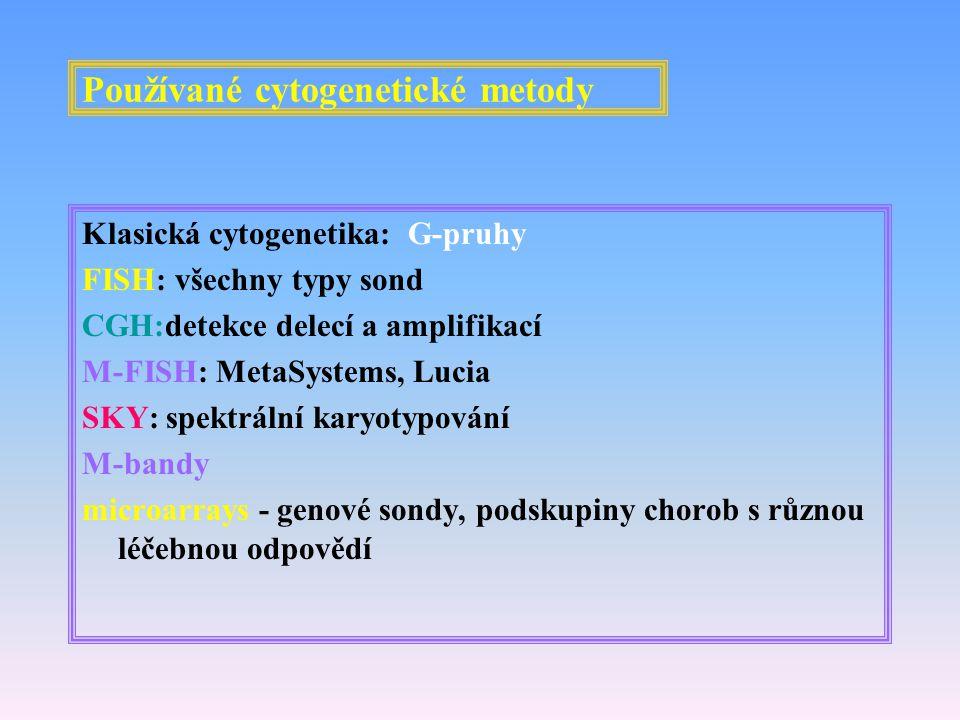 Používané cytogenetické metody