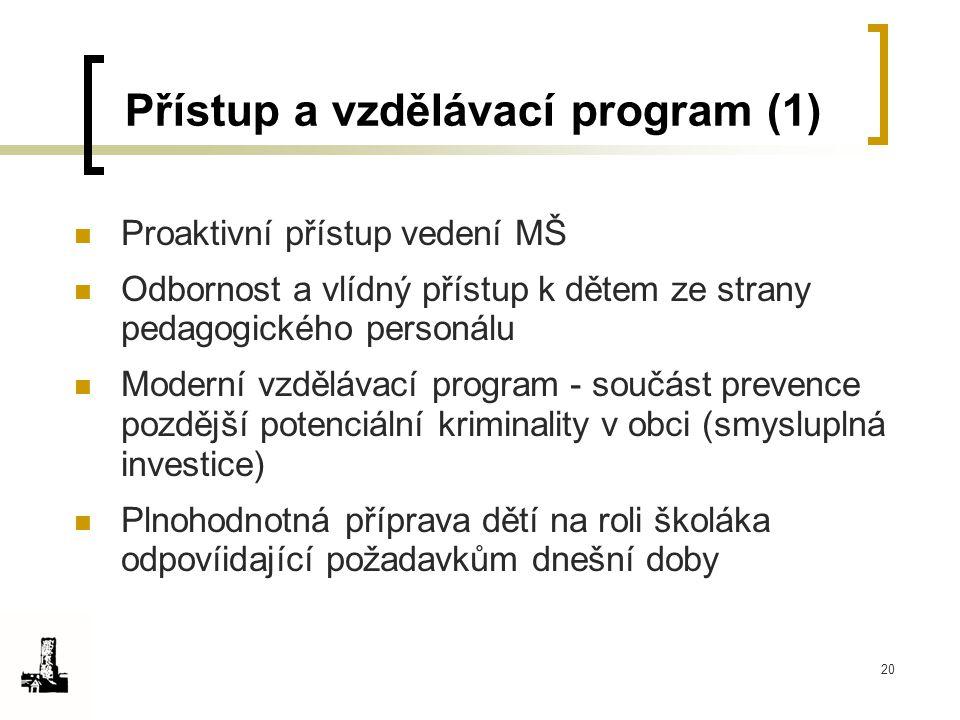 Přístup a vzdělávací program (1)