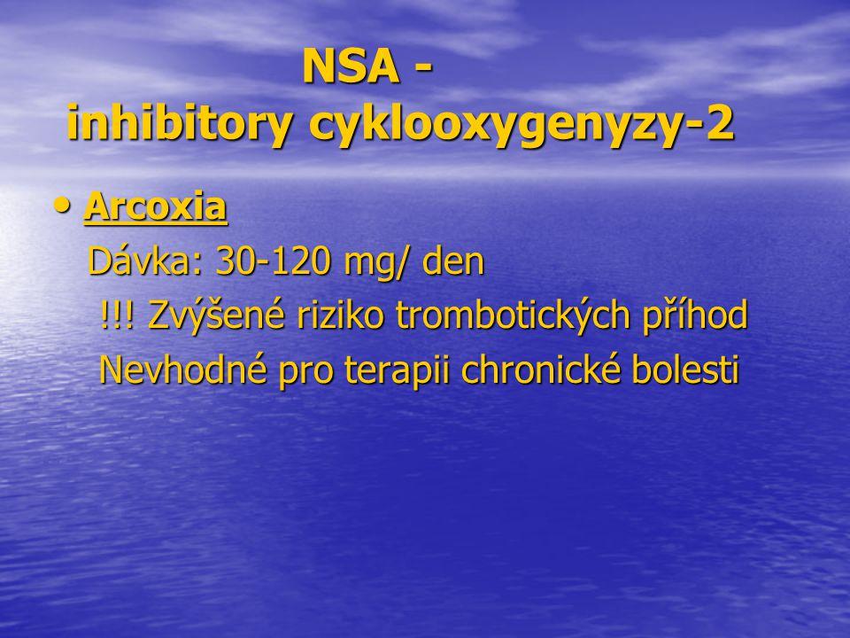 NSA - inhibitory cyklooxygenyzy-2
