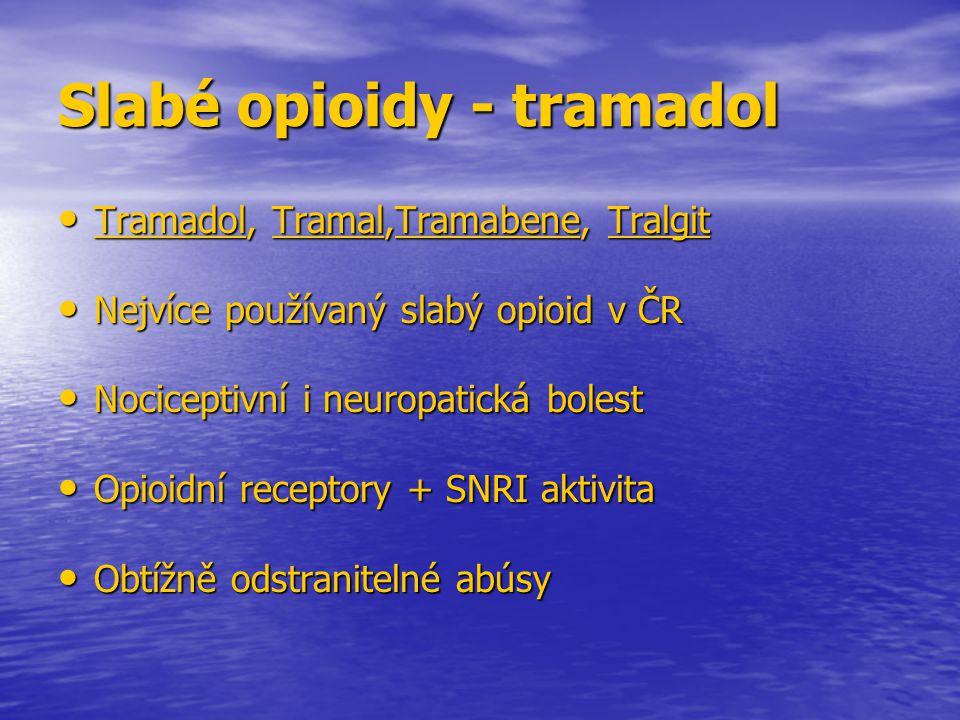 Slabé opioidy - tramadol