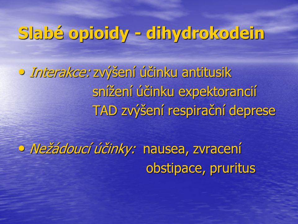 Slabé opioidy - dihydrokodein