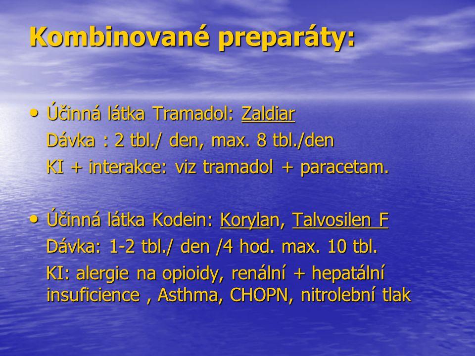 Kombinované preparáty: