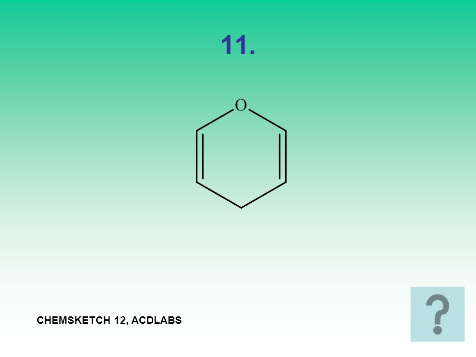 11. CHEMSKETCH 12, ACDLABS