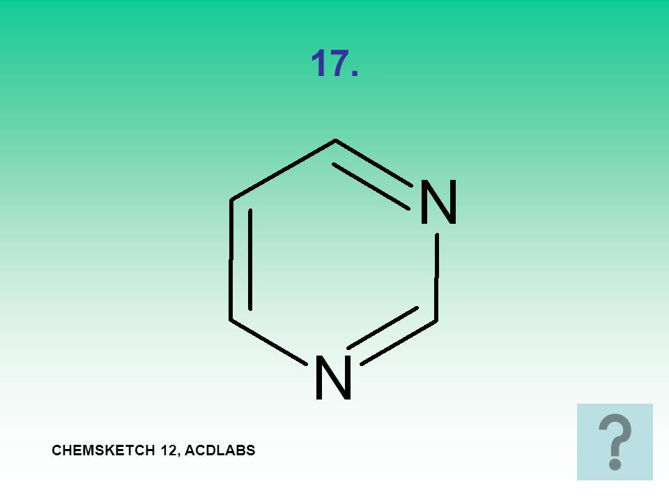 17. CHEMSKETCH 12, ACDLABS