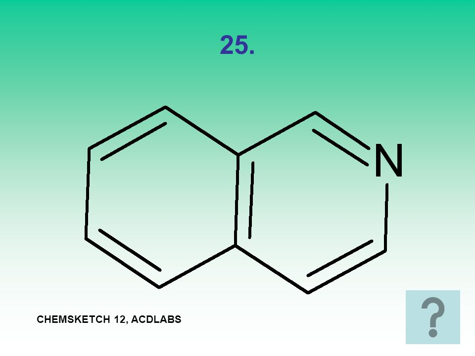 25. CHEMSKETCH 12, ACDLABS