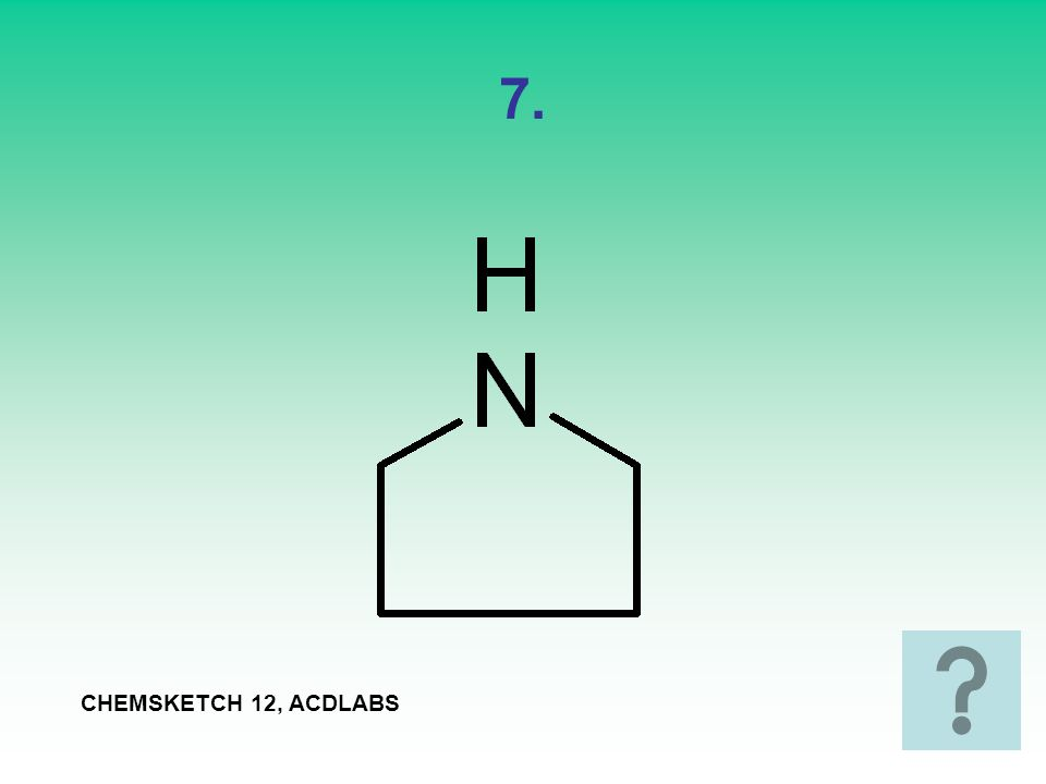 7. CHEMSKETCH 12, ACDLABS