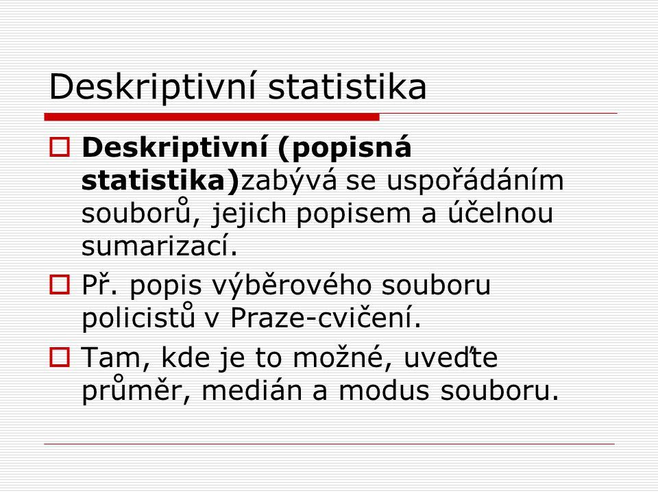 Deskriptivní statistika