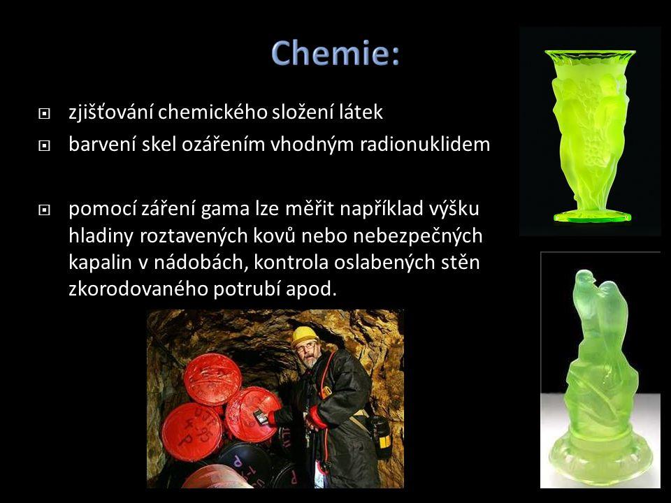 zjišťování chemického složení látek