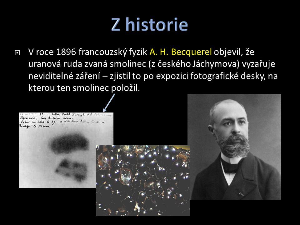 V roce 1896 francouzský fyzik A. H