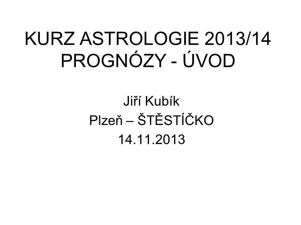 KURZ ASTROLOGIE 2013/14 PROGNÓZY - ÚVOD