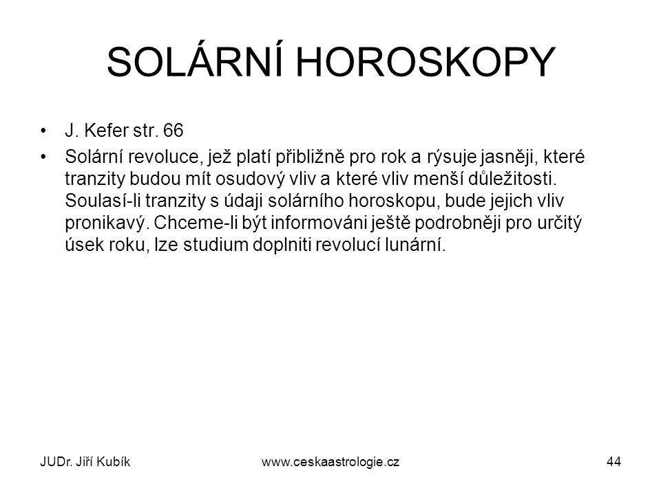 SOLÁRNÍ HOROSKOPY J. Kefer str. 66