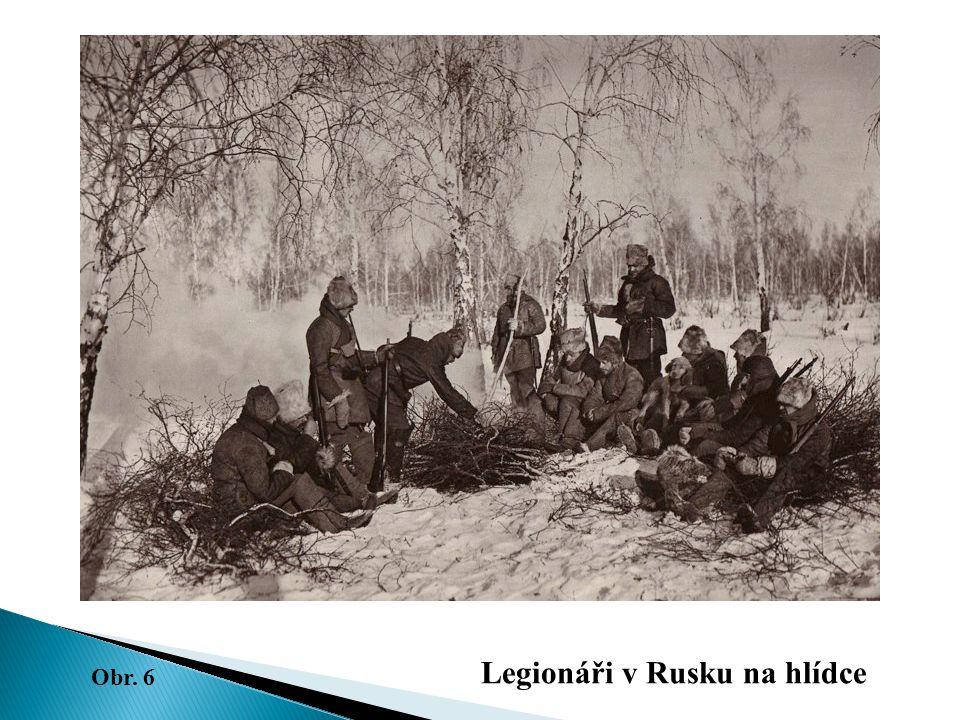 Legionáři v Rusku na hlídce